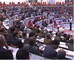 A session of the National Council of Resistance of Iran