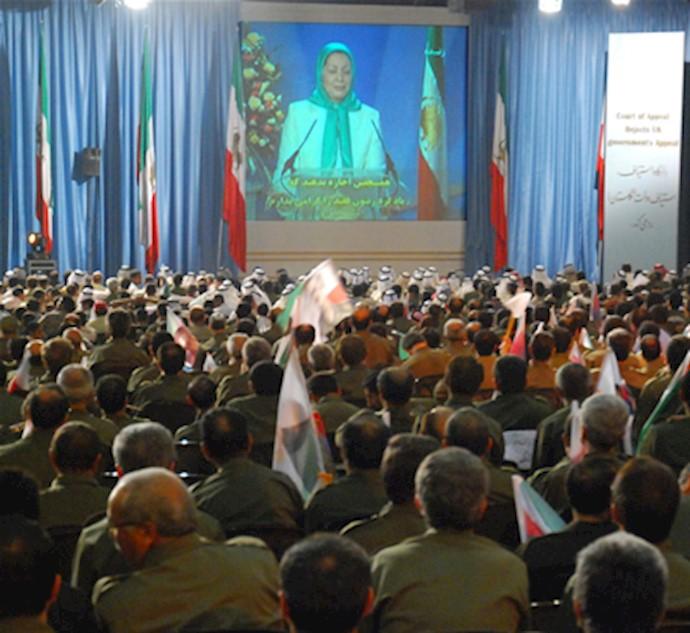 گردهمایی مجاهدان شهر اشرف