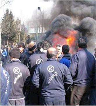 عکس اعتراضات کارگران لاستیک البرز