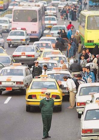 صف تاکسی و گران شدن بنزین