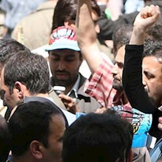 تجمع اعتراضی کارگران - آرشیو