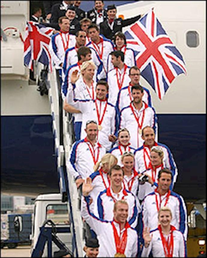 بازگشت اعضای کاروان ورزشی بریتانیا