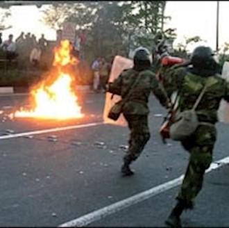 درگیری مردم با نیروی انتظامی - آرشیو