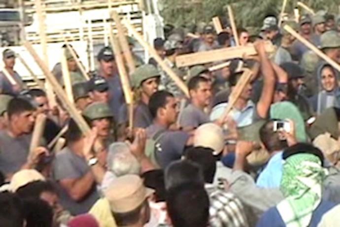 حمله ایادی مزدور آخوندها به اشرف