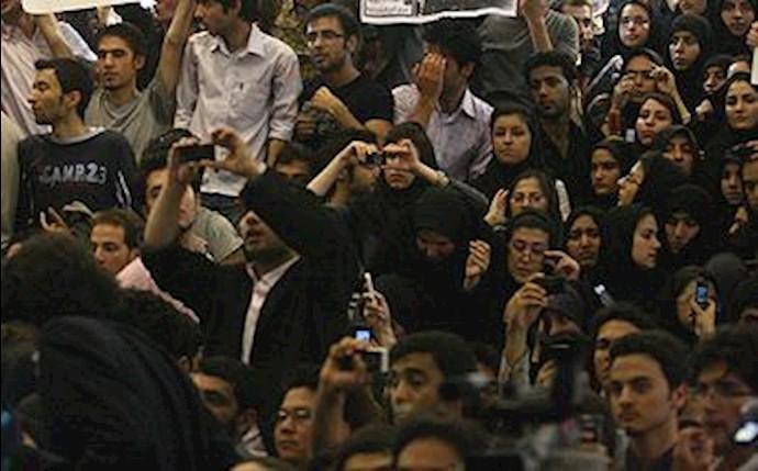 حرکت اعتراضی دانشجویان دانشگاه فردوسی مشهد