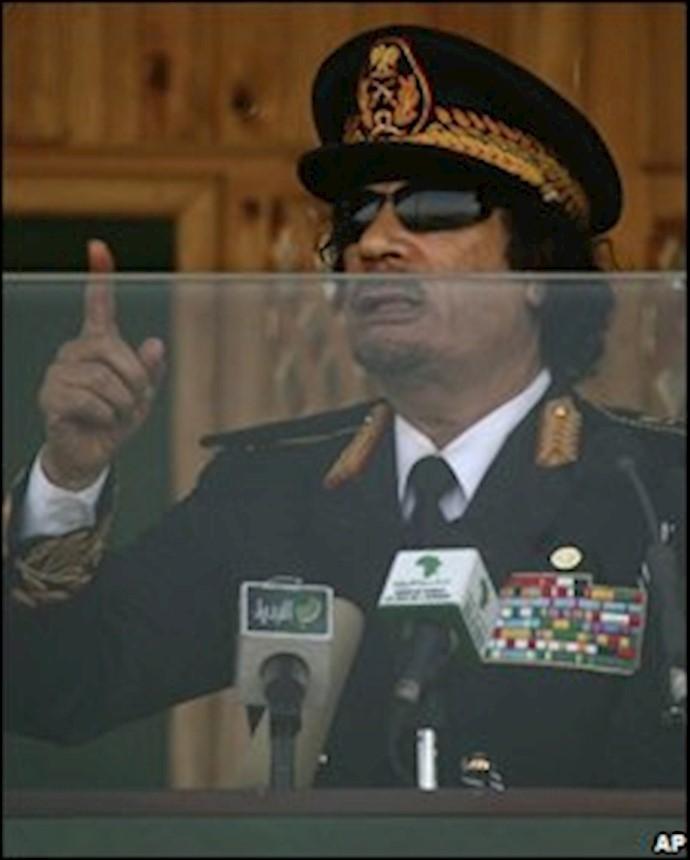 سرهنگ قذافی رهبر لیبی