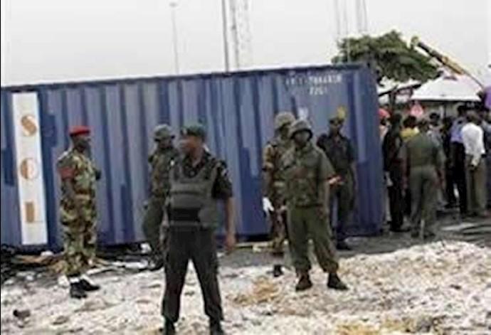 کانتینر سلاح و مهمات قاچاق ارسالی رژیم اخوندی در بندر نیجریه
