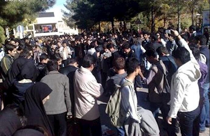 تجمع اعتراضی دانشجویان دانشگاه  شاهرود - آرشیو