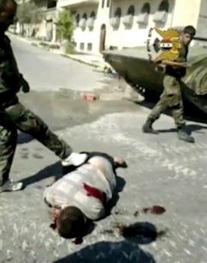 کشتار مردم سوریه بهدست ارتش و نیروهای امنیتی