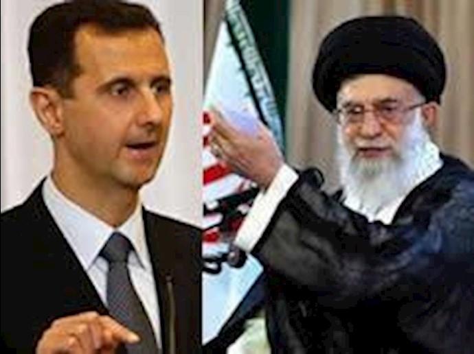 خامنه ای ولی فقیه ارتجاع  و بشار اسد دیکتاتور سوریه