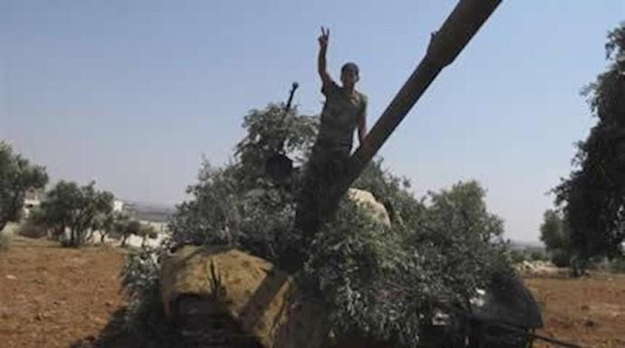 تانکهای به غنیمت گرفته شده ارتش آزادی سوریه