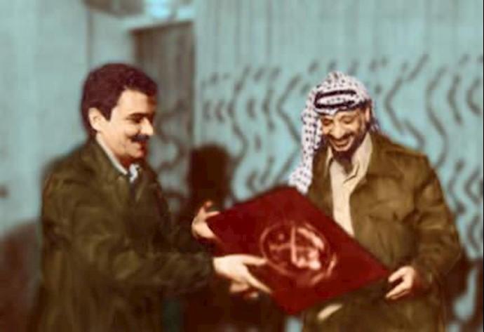دیدار یاسر عرفات با  برادر مجاهد مسعود رجوی در  تهران