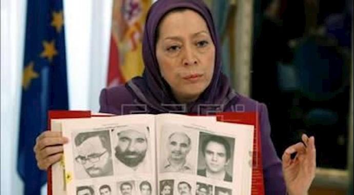 مریم رجوی رئیس جمهور برگزیده مقاومت ایران  - اسپانیا