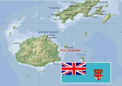 Fiji Gains Independence - Republic of fiji map