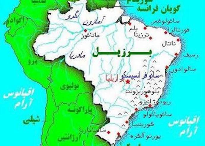 نقشه برزیل