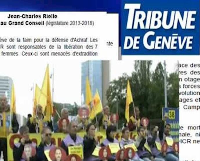 گزارش تریبون دو ژنو از اعتصابغذا برای آزادی 7 گروگان اشرفی