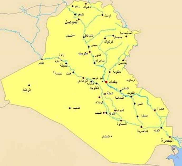نقشه عراق -موقعیت ابوغریب
