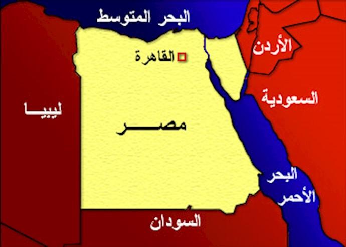 نقشه مصر