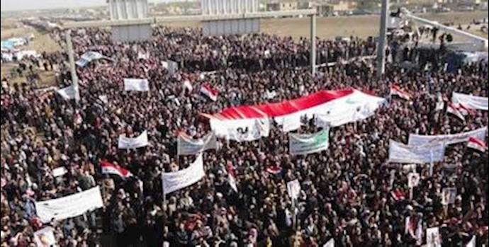 تظاهرات مردم فلوجه عليه مالكي ـ آرشيو
