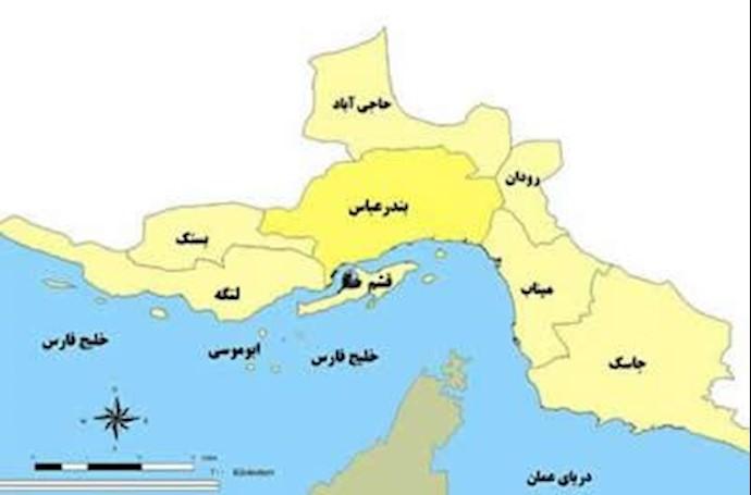 نقشه بندرعباس