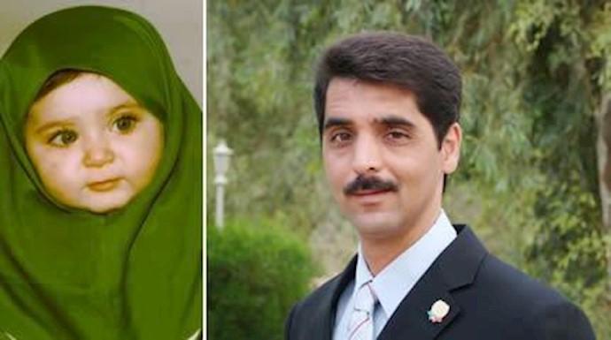 مجاهد شهید حسن جباری و دخترش آتنا