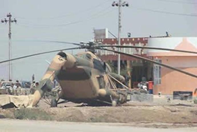 انهدام هلیکوپتر در رمادی-8دی92