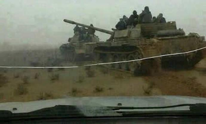 تانک های به غنیمت گرفته شده توسط عشایر عراق