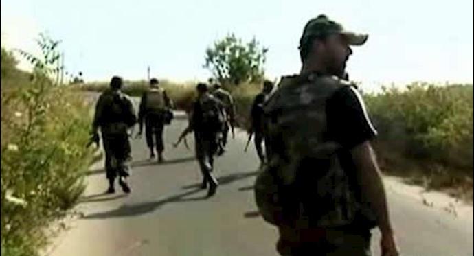 شبهنظامیان نیروی تروریستی قدس در سوریه