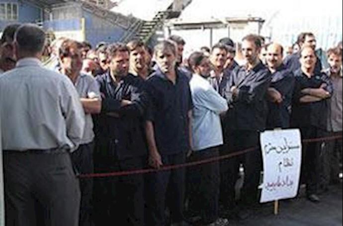 اعتصاب و تحصن کارگران کارخانه روغن نباتی قو در تهران