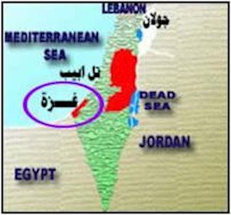 موقعیت غزه در نقشه منطقه