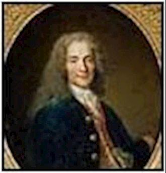 ولتر نویسنده و فیلسوف مشهور فرانسوی