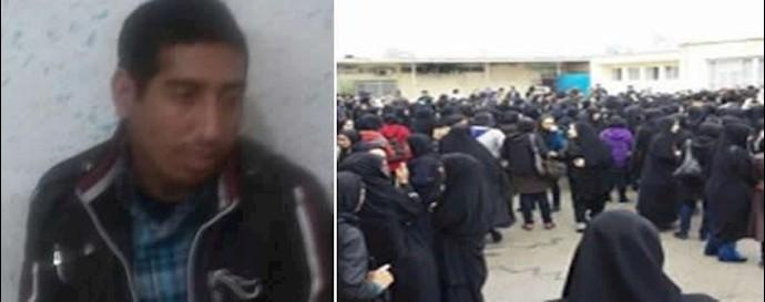 بسیجی  که به  زنان جهرم حمله كرده است