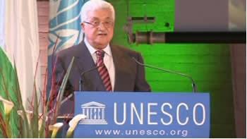 محمود عباس در یونسکو