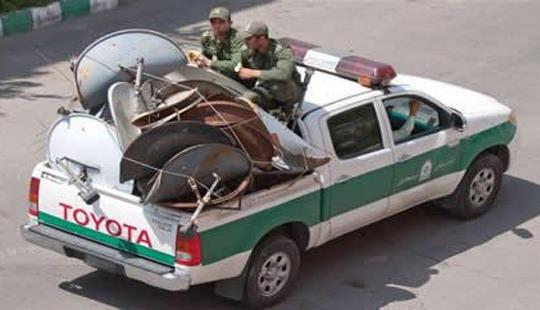 Iranian state forces rounding up satellite dishes