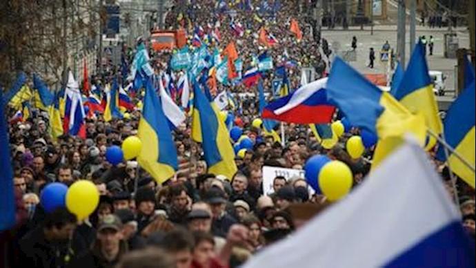 تظاهرات در مسکو علیه دخالت پوتین در اوکراین