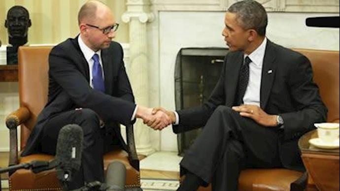 دیدار اوباما با نخست وزیر موقت اوکراین