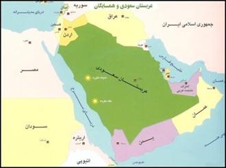 نقشه عربستان سعودی