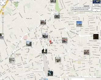 شهرستان ساری ـ نقشه هوایی
