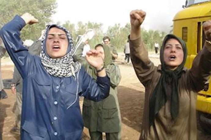 دفاع قهرمانانه زنان اشرفی در حمله ایادی رژیم آخوندی و مالکی در 6 و 7 مرداد 1388