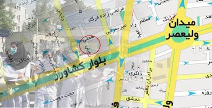 محل بیمارستان ساسان در تهران - تجمع پرستاران