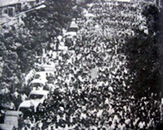 تظاهرات نیم ملیون نفری مردم تهران