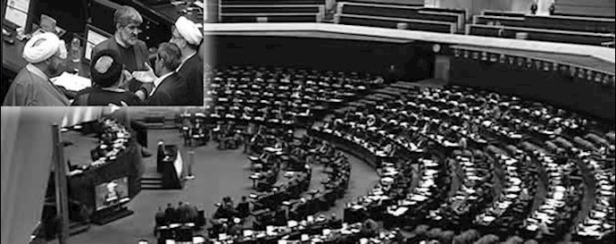 درگیری باندهای رژیم در جلسه علنی مجلس ارتجاع