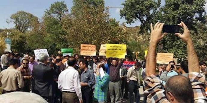 تجمع معلمان در همدان - 16مهر 94