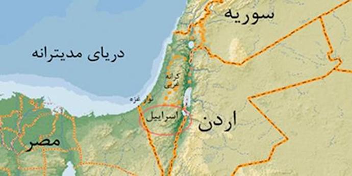 نقشه اردن