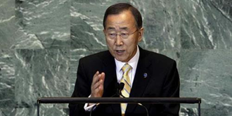 بان کیمون، دبیرکل سازمان مللمتحد