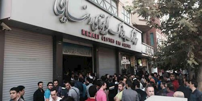 تجمع و اعتراض کسبه پاساژ کویتی های بازار تهران