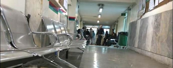 راهرو داخلی بیمارستان فیروزگر تهران