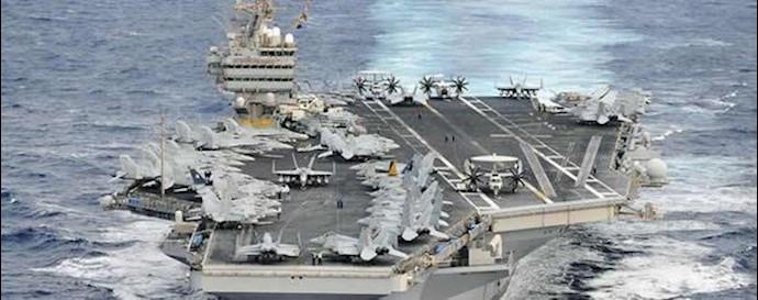ناو هواپیمابر آمریکا در خلیج فارس