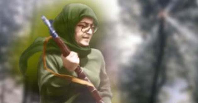 سمبل زن انقلابی مجاهد خلق، اشرف رجوی