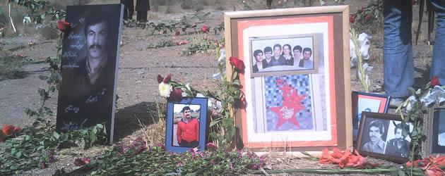 مزار شماری از شهیدان قتل عام 67 در خاوران